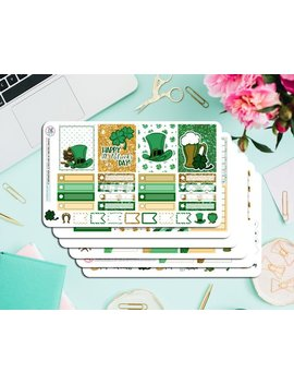 St. Patrick's Deluxe Weekly Planner Kit! Available In Horizontal And Vertical Sizes! Perfect For Eclp, Inkwell Press, Happy Planner, Etc. by Etsy
