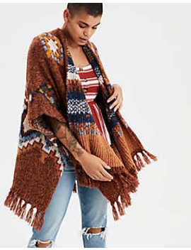 Aeo Exploded Geo Knit Duster Kimono by American Eagle Outfitters