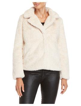 Solid Faux Fur Jacket by Jou Jou
