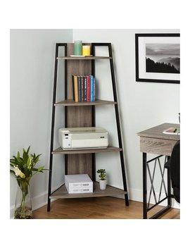 Leny Xx Corner Shelf, Black/Grey by Tms