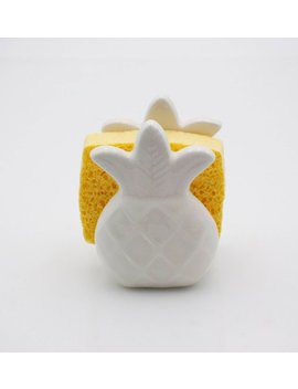 Pineapple Home Decor, Kitchen Decor,  Pineapple Sponge Holder, Pineapple Napkin Holder , Housewarming Gift , Handmade Pottery by Etsy