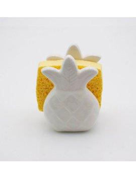 Pineapple Home Decor, Kitchen Decor,  Pineapple Sponge Holder, Pineapple Napkin Holder , Housewarming Gift , Handmade Pottery by Etsy
