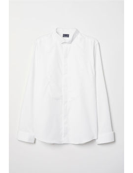 Slim Fit Tuxedo Shirt by H&M