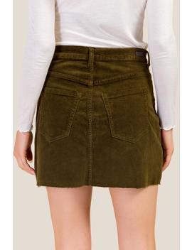 Sara Basic 5 Pocket Cord Mini Skirt by Francesca's