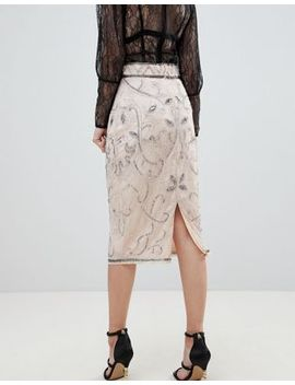 River Island Premium Embellished Pencil Skirt by River Island