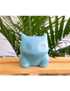 Teal Concrete Bulbasaur Planter by Etsy