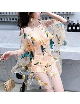 Sabbia   Set: Off Shoulder Embroidered Dress +Bikini by Sabbia
