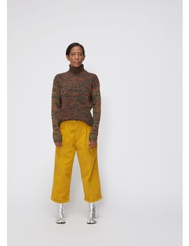 Long Sleeve  Marled Turtleneck Sweater by Marni
