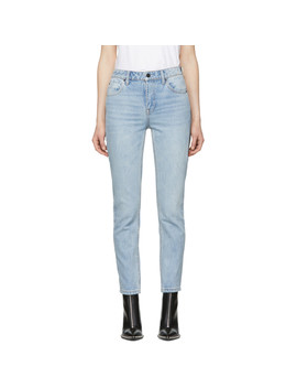 Blue Cult Side Zip Jeans by Alexander Wang