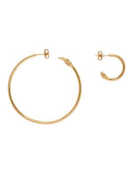 Gold Il Leone Earrings by Alighieri