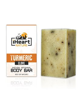Turmeric Soap Bar (Large 6 Ounce) Made In Usa (Beautiful Glowing Skin Brightening Lightening Whitening) Ayurvedic Organic Vegan Artisanal Natural... by I Heart Nature