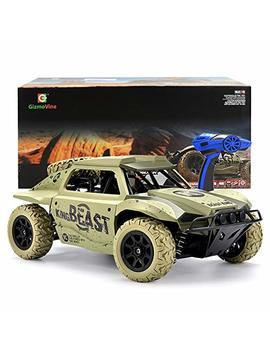 Gizmovine Rc Cars 1/18 Scale 4 Wd High Speed Vehicle 15.5 Mph+ 2.4 Ghz Radio Remote Control Off Road Racing Monster Trucks Fast Electric Race Desert Power (Khaki) by Gizmovine