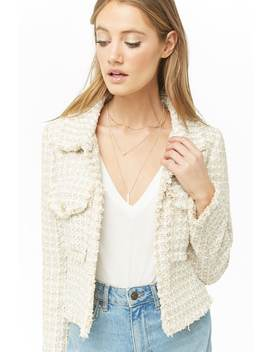 Metallic Tweed Jacket by Forever 21