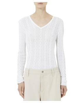 Pointelle Knit V Neck Sweater by Marc Jacobs