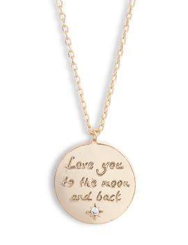 Love You To The Moon And Back Pendant Necklace by Estella Bartlett