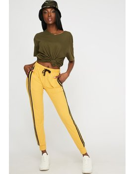 Soft Side Stripe High Rise Jogger by Urban Planet