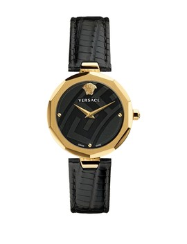 Women's Idyia Lizard Embossed Leather Strap Watch, 36mm by Versace