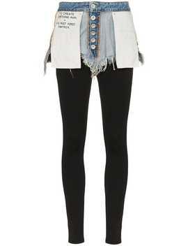 Reverse Short Cotton Leggings by Unravel Project
