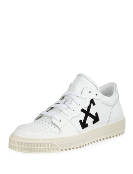 Men's 3.0 Polo Mid Top Leather Sneakers by Off White