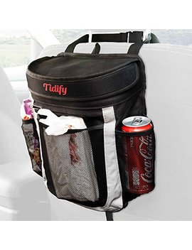 Car Trash Bag | 100 Percents Leak Proof Garbage Can / Litter Bag / Seat Organizer To Keep Your Car Clean And Tidy | 25 Disposable Trash Liners | Large Flip Up Lid To Prevent Bad Odors by Tidify
