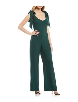 Danica Tie Shoulder Jumpsuit by Gianni Bini