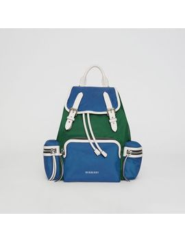 The Medium Rucksack In Colour Block Nylon by Burberry