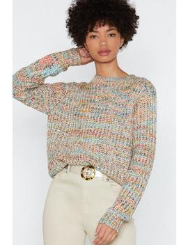 Life In Color Knit Sweater by Nasty Gal