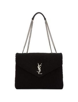 Black Medium Lou Shoulder Bag by Saint Laurent