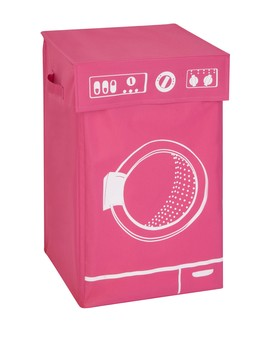 Pink Graphic Washing Hamper by Honey Can Do