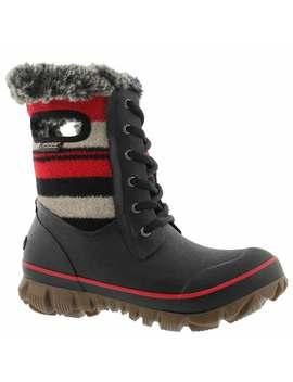 Women's Arcata Stripe Red Multi Wtpf Boots by Bogs
