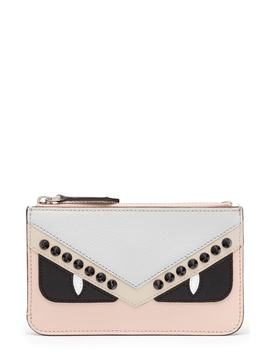Monster Colorblock Leather Key Pouch by Fendi