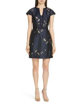 Hartty Dragonfly Jacquard Dress by Ted Baker London
