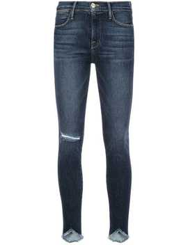 Distressed Effect Skinny Jeans by Frame