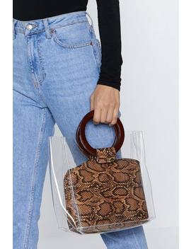 Want Rattle Some Cages Snake Tote Bag by Nasty Gal