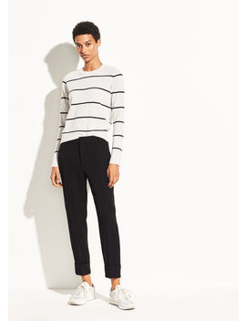 Cuffed Crepe Suiting Trouser by Vince
