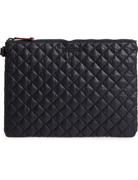 Metro Quilted Oxford Nylon Zip Pouch by Mz Wallace