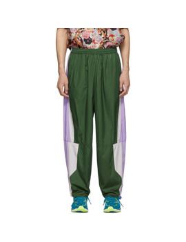 Green & Purple 20 Panel Lounge Pants by Keenkee