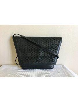 Vintage Roberto Vascon Black Leather Trapazoid Shoulder Bag Boho Chic Rare Purse by Etsy