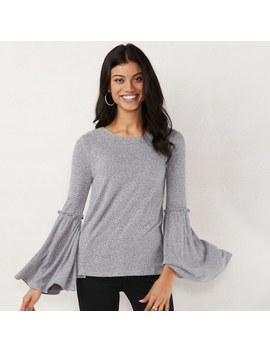 Women's Lc Lauren Conrad Supersoft Bell Sleeve Top by Kohl's