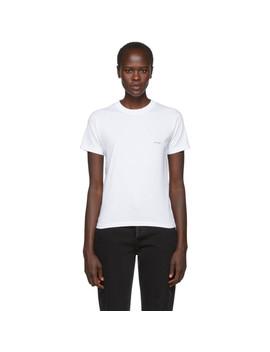 White Mini Logo T Shirt by Balenciaga