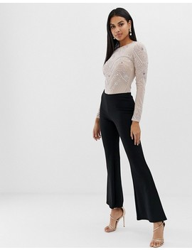 Asos Design Mesh Body With Embellishment by Asos Design