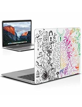 I Benzer Mac Book Air 13 Inch Case 2018 Release New Version A1932, Soft Touch Hard Case Shell Cover For Apple Mac Book Air 13 Retina With Touch Id, Brain, Mad T13 Brn by I Benzer