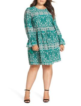 Paisley Smock Dress by Glamorous