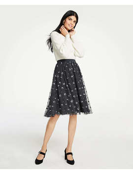 Sequin Dot Tulle Skirt by Ann Taylor