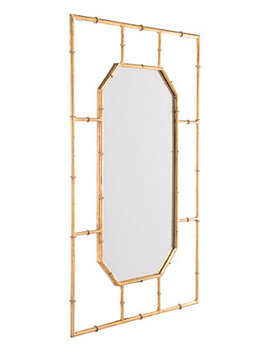 Bamboo Style Rectangular Mirror by Zuo