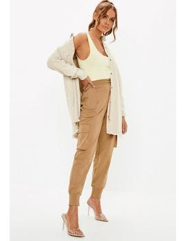 Stone Utility Pocket Cargo Joggers by Missguided