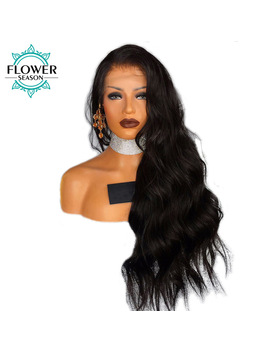 Flower Season 13x6 Deep Part Body Wave Lace Front Wig Peruvian Remy Human Hair With Baby Hair Pre Placked And Bleached Knots by Flower Season