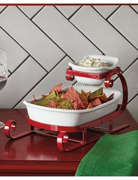 Sleigh Chip And Dip Server by Neiman Marcus
