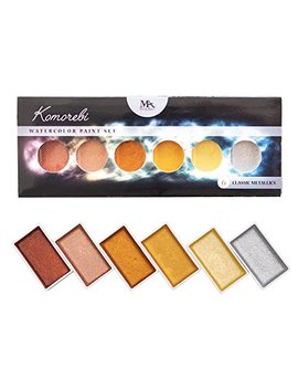 Moz Art Supplies Metallic Komorebi Watercolor Paint Set, With 6 Shimmery Colors, Portable And Lightweight, Perfect For Artists And Hobbyists by Moz Art Supplies
