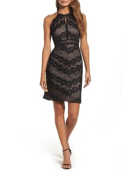 Mitered Lace Dress by Morgan & Co.